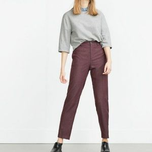 Zara Pinstripe Pants Medium NWT